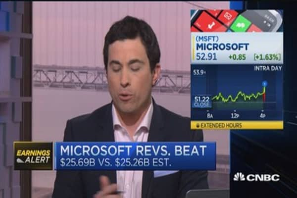 Microsoft tops Q2 earnings expectations