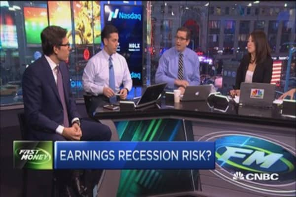 Earnings recession risk?