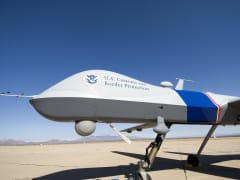 An MQ-9 Predator B, an unmanned surveillance aircraft system, used by the U.S. Customs and Border Protection (CBP).