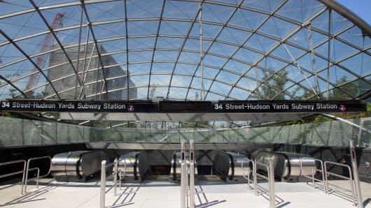 Hudson Yards number 7 train subway station