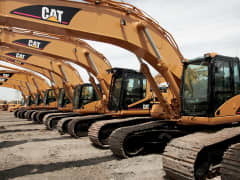 Caterpillar earth moving equipment