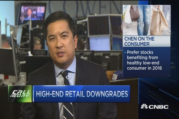 High-end retail downgrades