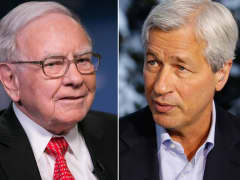Warren Buffett and Jamie Dimon.