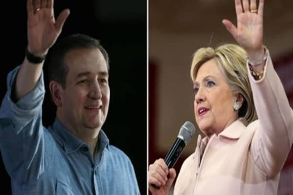 Cruz, Clinton win Iowa