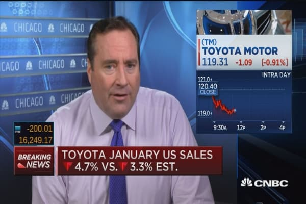 Toyota US sales fall 4.7% in January