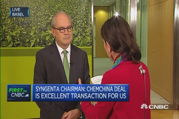 This transaction is about growth: Syngenta chairman