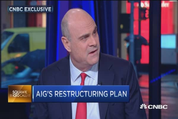 Defending AIG's split: CEO