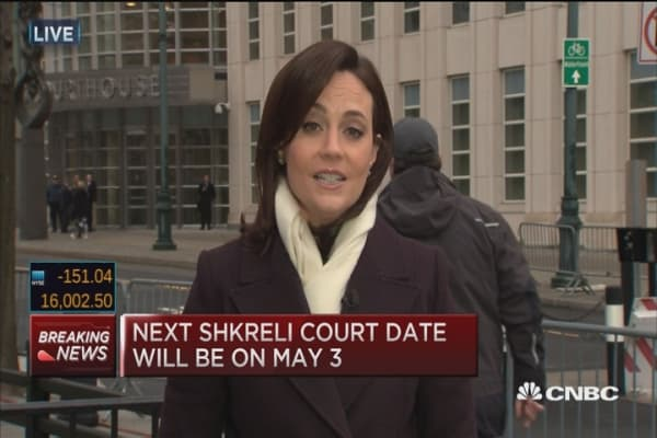 Shkreli's next court date set for May 3