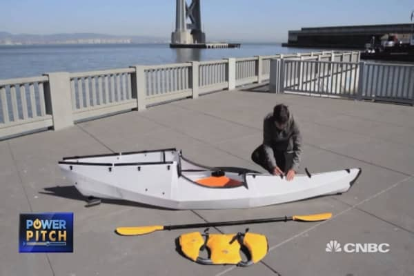A start-up folding kayaks into compact cases