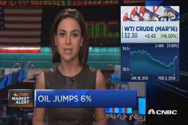 Huge rally in crude prices