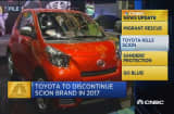 CNBC update: Toyota to discontinue Scion brand