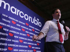 Republican presidential candidate Sen. Marco Rubio (R-FL) answers questions during a town hall event at the Belknap Mill February 3, 2016 in Laconia, New Hampshire.