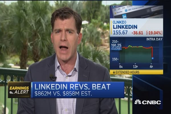 LinkedIn shares plummet 20% on lower guidance