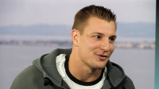 "Rob Gronkowski, nicknamed ""Gronk"" of the New England Patriots."