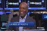L.A. Reid at post 9
