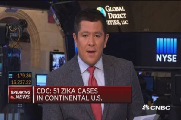 CDC: 51 Zika cases in continental US