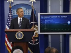 President Barack Obama delivers a statement on the economy following the release of the January jobs report, in the Brady Press Briefing Room at the White House in Washington, February 5, 2016.