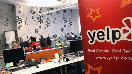 Yelp employees in the New York City office.
