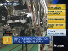 CNBC update: Toyota halts production in Japan