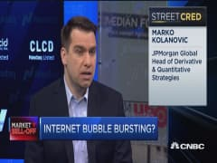 JPMorgan: Internet bubble bursting