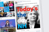 A post on Hillary Clinton's facebook page.
