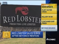 CNBC update: Beyonce helps boost Red Lobster revenue