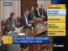 CNBC news updatE: Zika travel guidelines