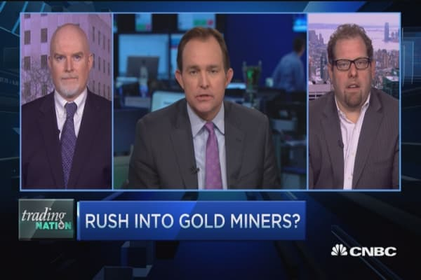 Trading Nation: Rush into gold miners?