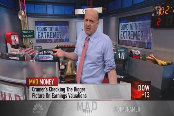 Cramer: Extreme valuations point to a recession