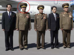 North Korea has executed its army chief of staff Army Gen. Ri Yong-gil (second from left) on corruption and other charges