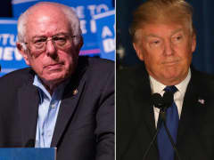 Sen. Bernie Sanders (left) and Donald Trump
