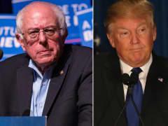 Sen. Bernie Sanders (left) and Donald Trump