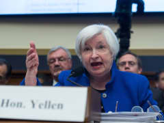 Federal Reserve chair Janet Yellen testifies before the House Financial Services Committee on Capitol Hill in Washington, DC, on February 10, 2016.