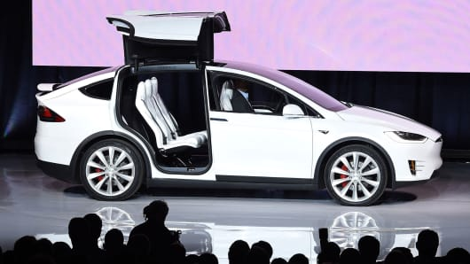 Tesla Model X is presented during a launch event in Fremont, California last September.