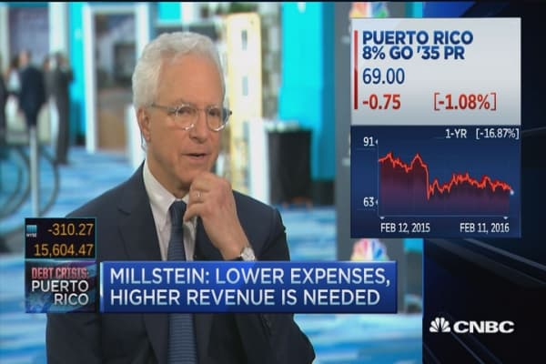Puerto Rican debt not sustainable: Millstein