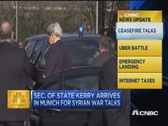 CNBC update: Kerry arrives for Syrian war talks
