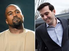 Kanye West and Martin Shkreli