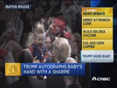 CNBC update: Trump signs baby