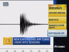 CNBC update: Earthquake app