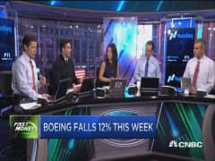 Boeing falls 12%