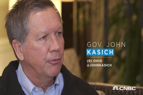 "Gov. Kasich: ""I'm for low oil prices"""