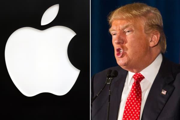 Donald Trump calls for a boycott of Apple.