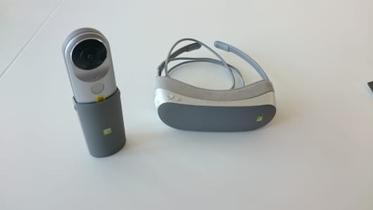 The LG Cam 360 and 360 Viewer launched at Mobile World Congress in Barcelona on Sunday February 21, 2016.