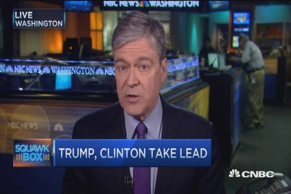 Clinton, Trump take the lead