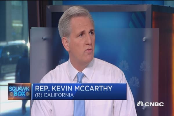 I can work with anyone from the GOP: Rep. Kevin McCarthy