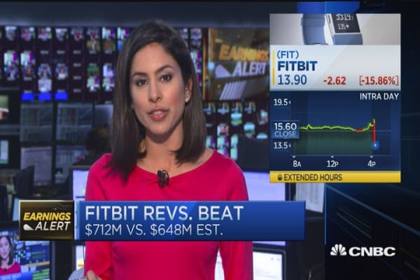 Fitbit dives on weak Q1 guidance