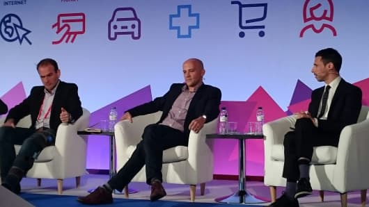 Benjamin Faes, MD of media and platforms at Google; Nick Hugh, VP and GM of advertising for EMEA at Yahoo; and Roi Carthy, CMO of Shine Technologies