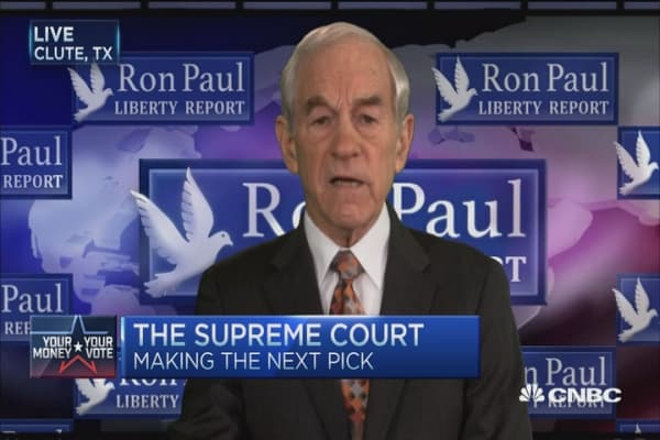 McConnell's SCOTUS approach: Ron Paul