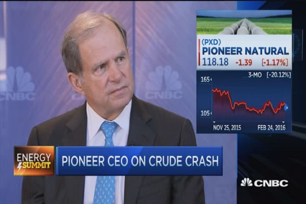 Pioneer CEO: $50-$60 oil needed for companies to survive