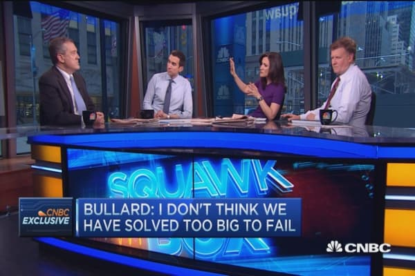 Haven't solved too big to fail: Fed's Bullard
